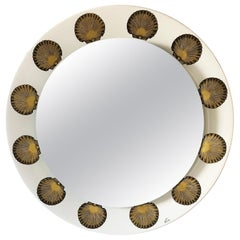Piero Fornasetti for Fornasetti Milano Back-lit Mirror with Shell Decorations
