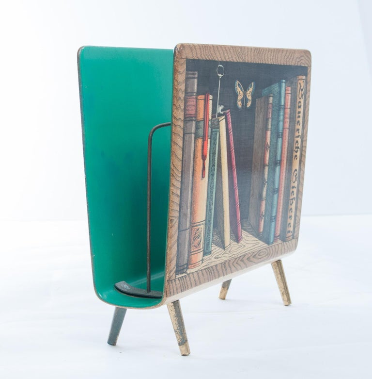 Mid-Century Modern Piero Fornasetti Magazine Rack For Sale