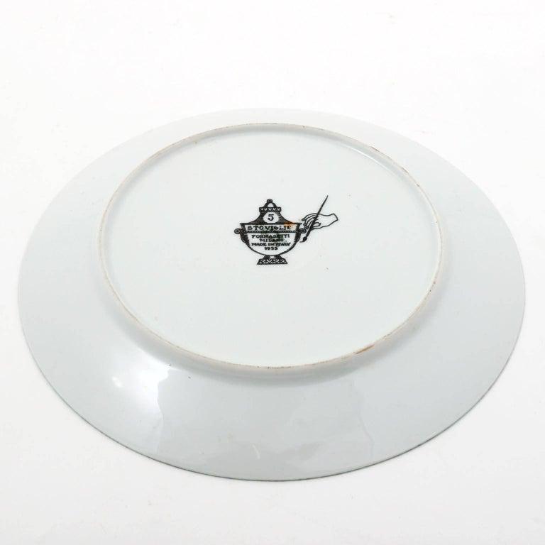 Italian Piero Fornasetti Malachite Ceramic Plate Stoviglie No. 5, Milano, Italy, 1955 For Sale