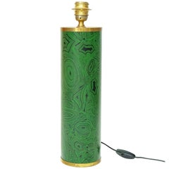 Piero Fornasetti Malachite Design Lamp Base, 1950s