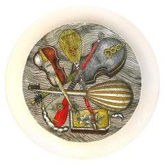 "Piero Fornasetti Metal ""Strumenti"" Pattern Tray, 1950s-1960s"