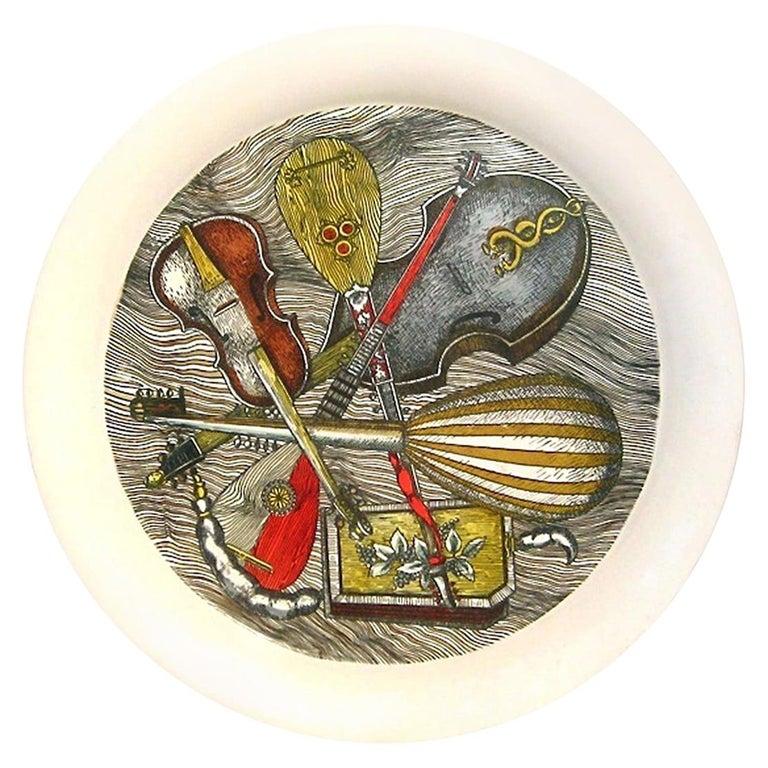 "Piero Fornasetti Metal ""Strumenti"" Pattern Tray, 1950s-1960s For Sale"