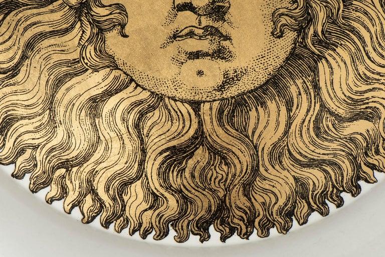 "Piero Fornasetti Metal Tray ""Sole"", Italy, circa 1960 In Good Condition For Sale In Macclesfield, Cheshire"