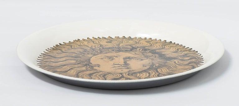 "Piero Fornasetti Metal Tray ""Sole"", Italy, circa 1960 For Sale 2"