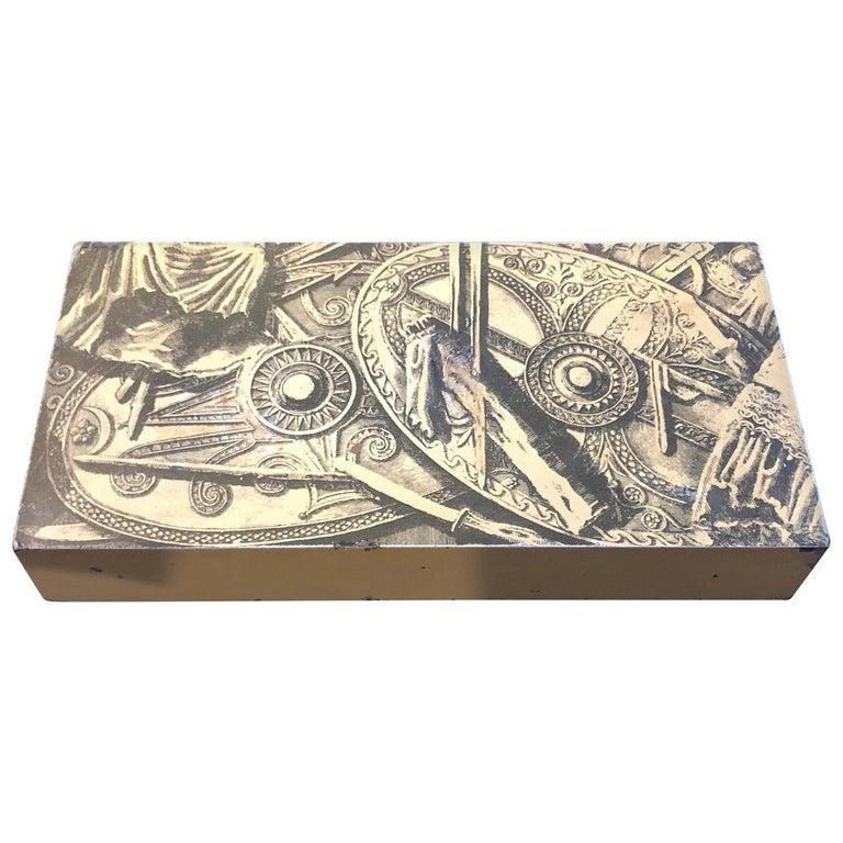 Piero Fornasetti Mid-Century Modern Italian Cigarette Box, 1950 For Sale