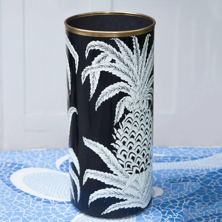 Hollywood Regency Piero Fornasetti Pineapple Umbrella Stand, 1950s For Sale