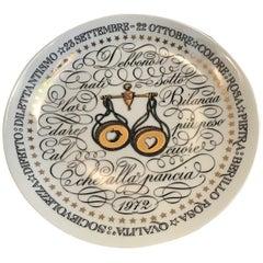 Piero Fornasetti Plate Libra Zodiac Sign Porcelain 1972, Italy