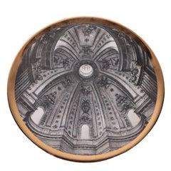 Piero Fornasetti Plate Porcelain Milan, Italy, 1960s