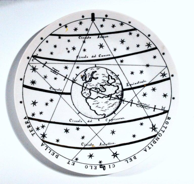Mid-Century Modern Piero Fornasetti Porcelain Astronomici Plate, #8 For Sale