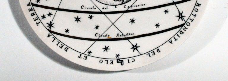 Italian Piero Fornasetti Porcelain Astronomici Plate, #8 For Sale