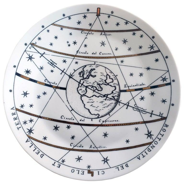 Piero Fornasetti Porcelain Astronomici Plate, #8 For Sale