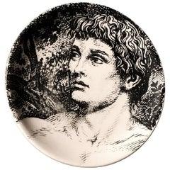 "Piero Fornasetti Porcelain Coaster Reclining ""Adam"" 1 of 8, 1965, Italian Modern"