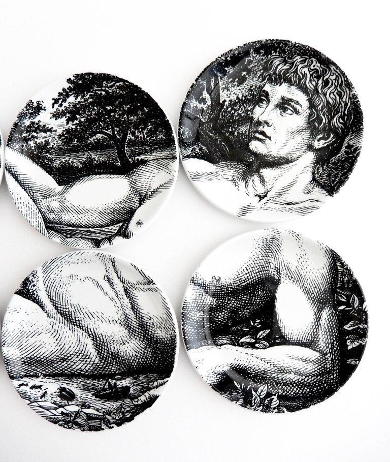 Piero Fornasetti Porcelain Coaster Reclining