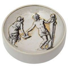 Piero Fornasetti Porcelain Round Bowl Vintage
