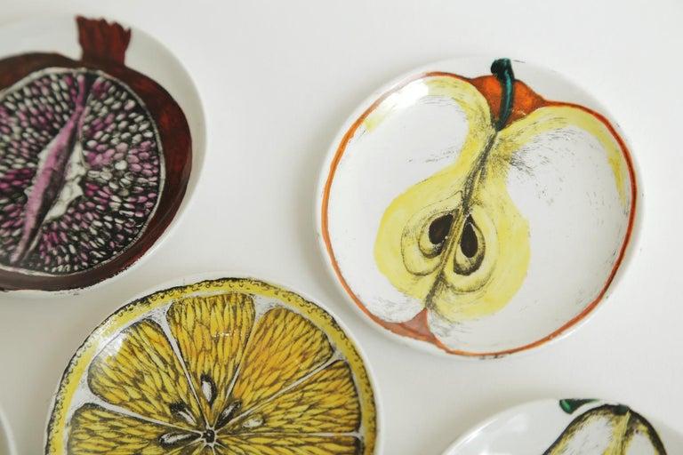 Piero Fornasetti Porcelain Sezoni Di Frutta Midcentury Small Plates or Coasters For Sale 1