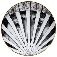 "Piero Fornasetti Rosenthal Plate, ""The Fan"" Motiv 26"
