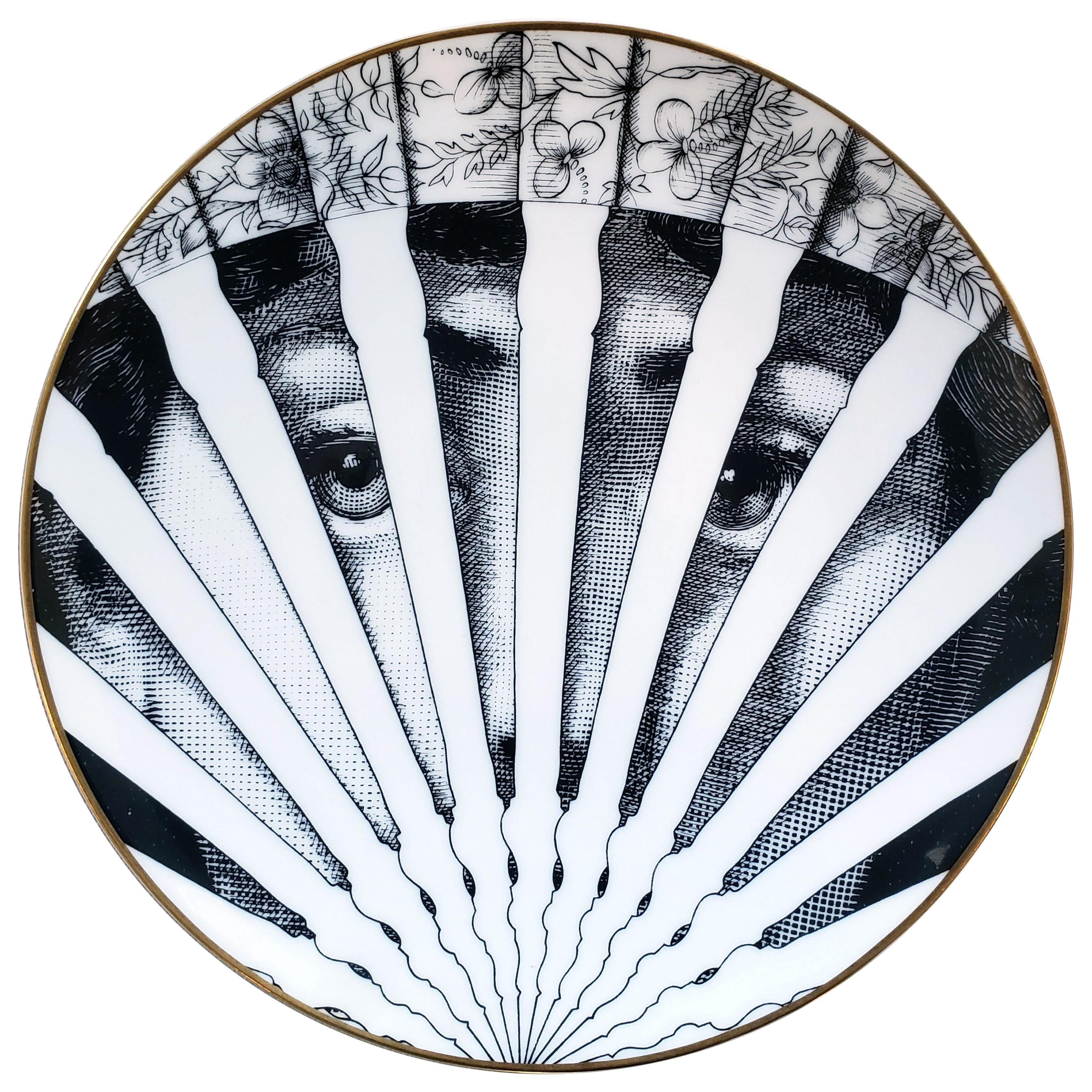 Piero Fornasetti Rosenthal Porcelain Plate, Motiv 26