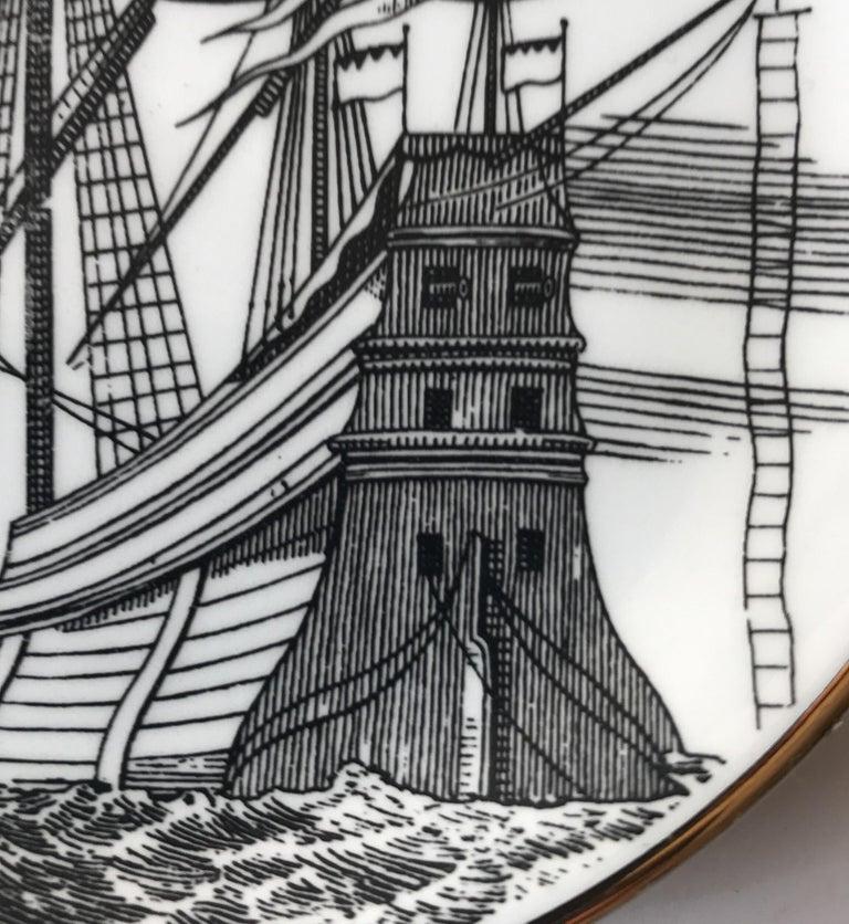 Piero Fornasetti Set of Five Italian Porcelain Coasters For Sale 10