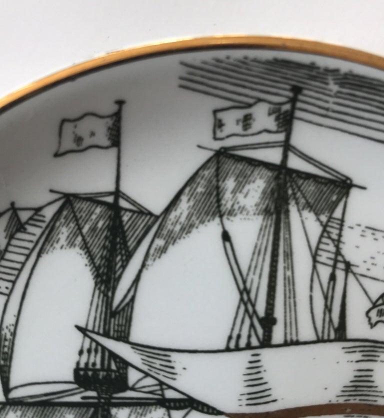 Piero Fornasetti Set of Five Italian Porcelain Coasters For Sale 13