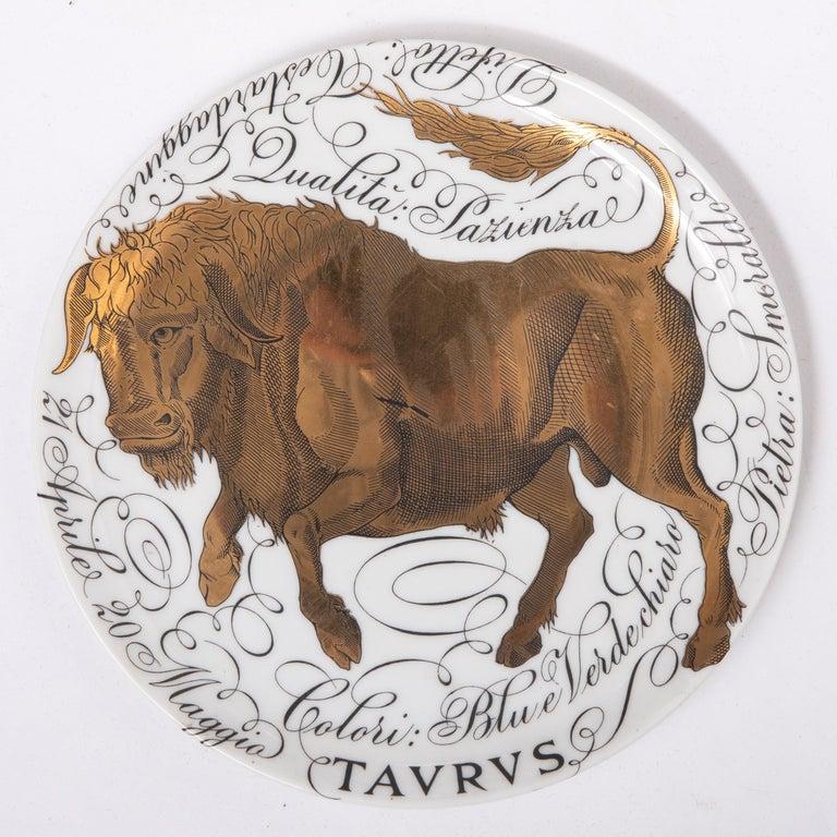 Piero Fornasetti Set of the Twelve Zodiac Signs, Italy, circa 1965-1975 For Sale 3