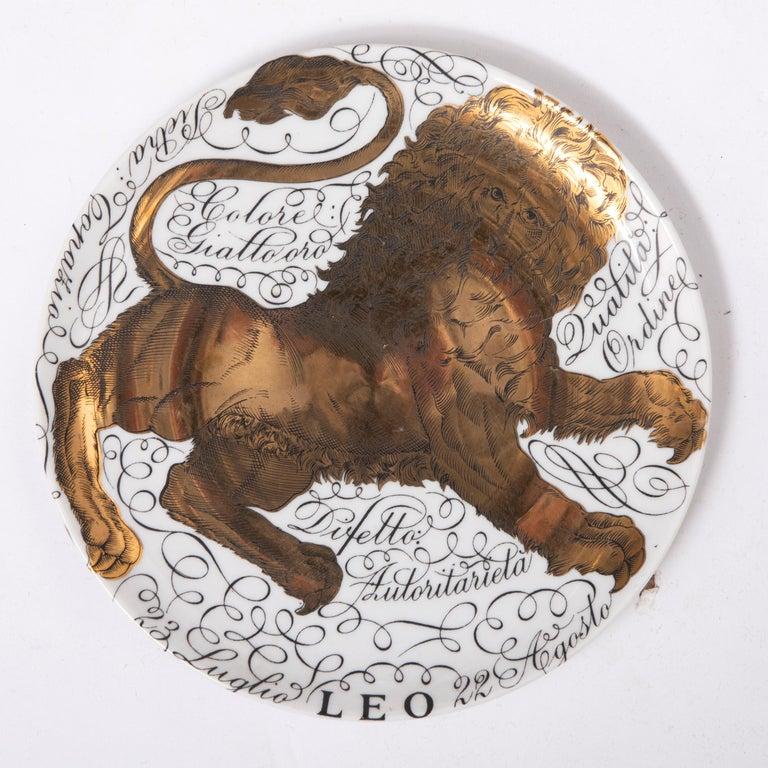 Piero Fornasetti Set of the Twelve Zodiac Signs, Italy, circa 1965-1975 For Sale 4