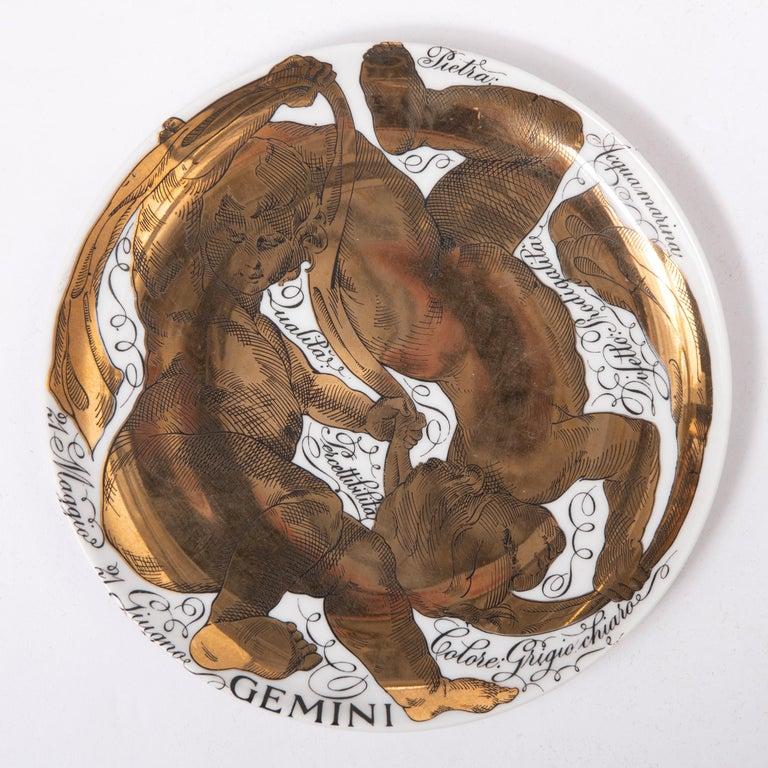 Piero Fornasetti Set of the Twelve Zodiac Signs, Italy, circa 1965-1975 For Sale 5