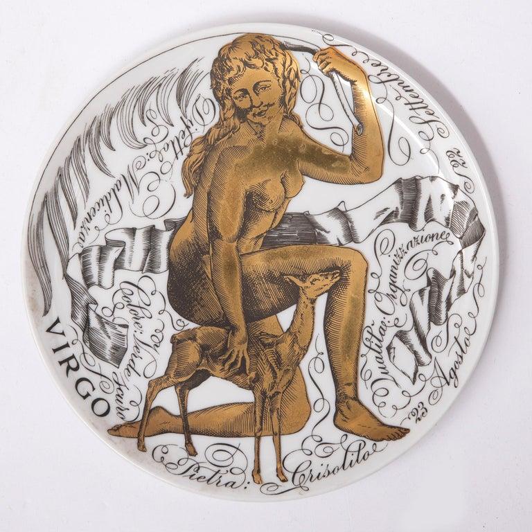 Italian Piero Fornasetti Set of the Twelve Zodiac Signs, Italy, circa 1965-1975 For Sale