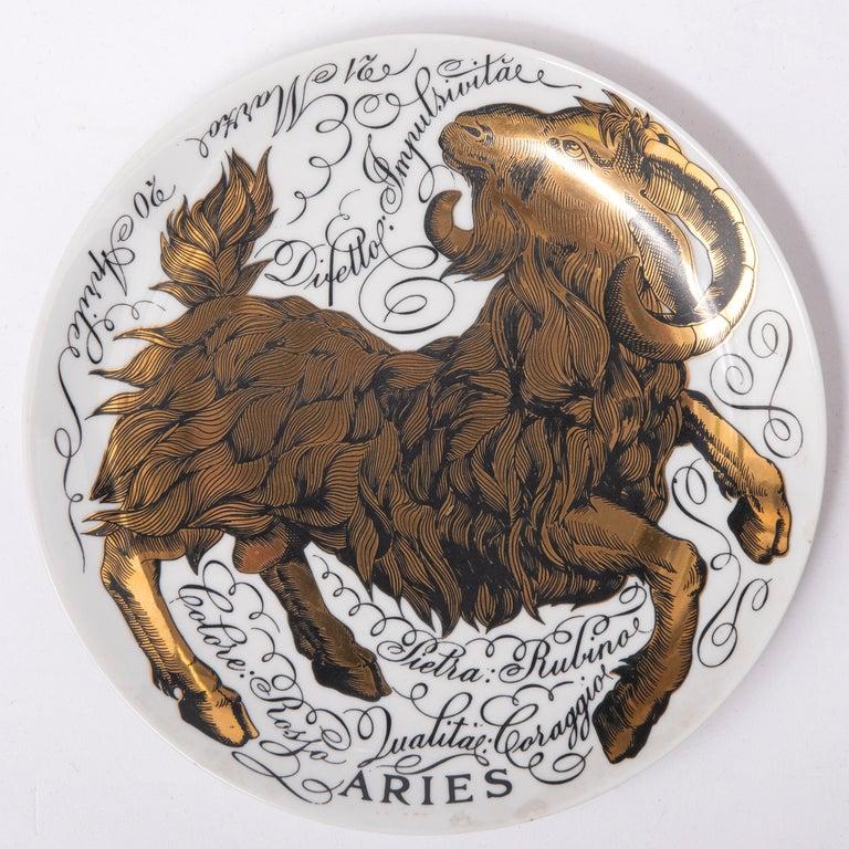 Piero Fornasetti Set of the Twelve Zodiac Signs, Italy, circa 1965-1975 For Sale 1