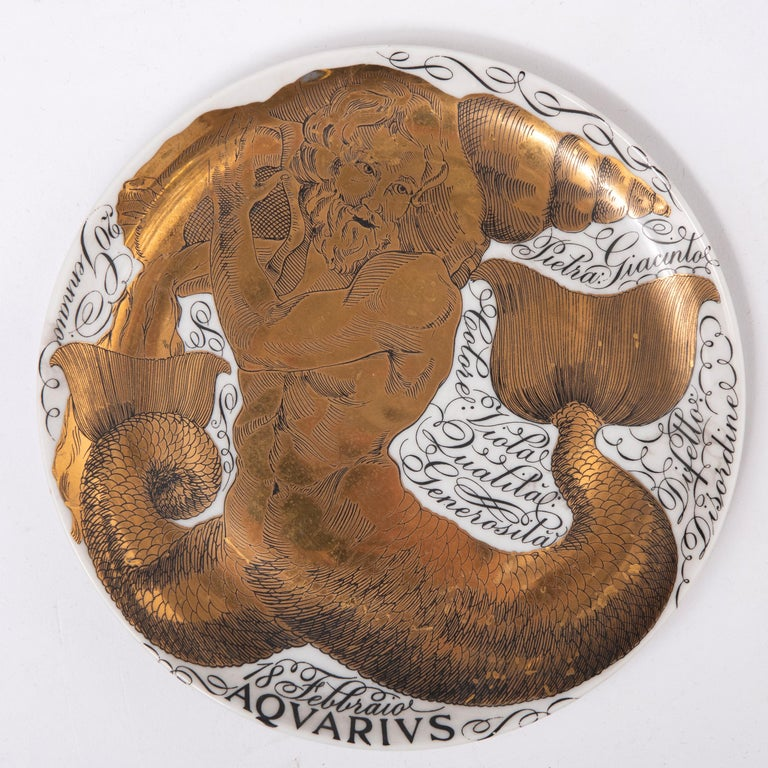 Piero Fornasetti Set of the Twelve Zodiac Signs, Italy, circa 1965-1975 For Sale 2