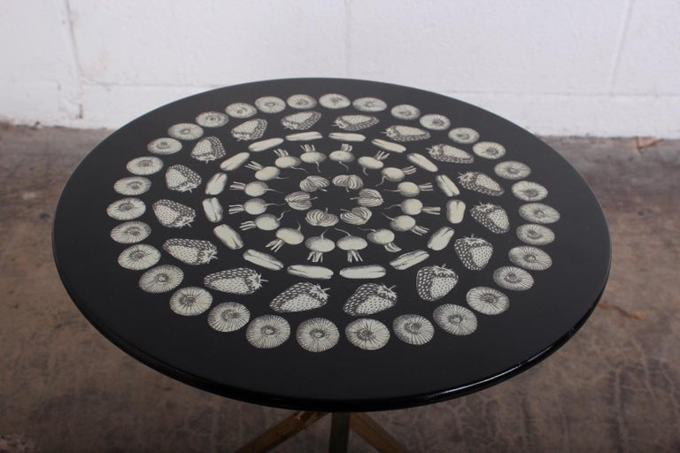 Piero Fornasetti Side Table, 1960s For Sale 1
