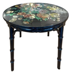 Piero Fornasetti Side Table with Flower Motif, Italy, 1960s