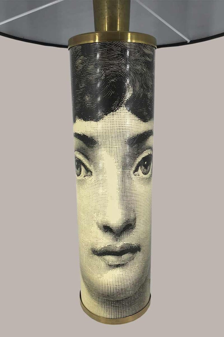 Painted Piero Fornasetti Table Lamp For Sale