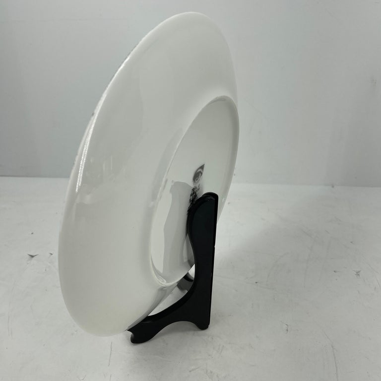 Piero Fornasetti Tema e Variazioni Porcelain Black and White Large Dish Charger In Good Condition For Sale In Haddonfield, NJ