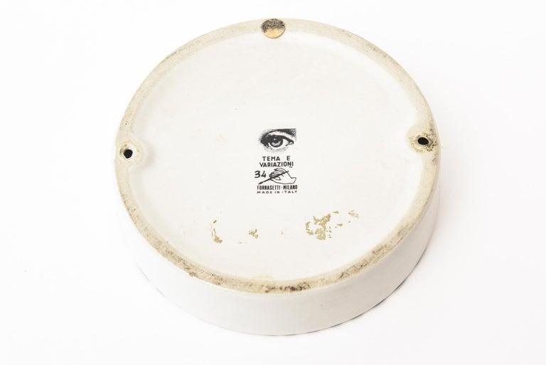 Piero Fornasetti Tema Porcelain Bowl Vintage For Sale 2