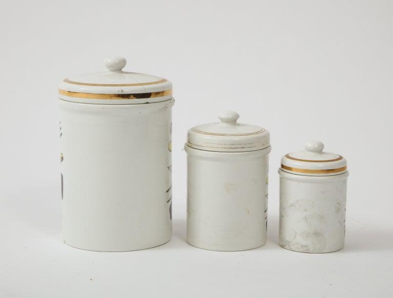 Piero Fornasetti Vintage Ceramic Storage Jars, Italy, 1960s For Sale 5