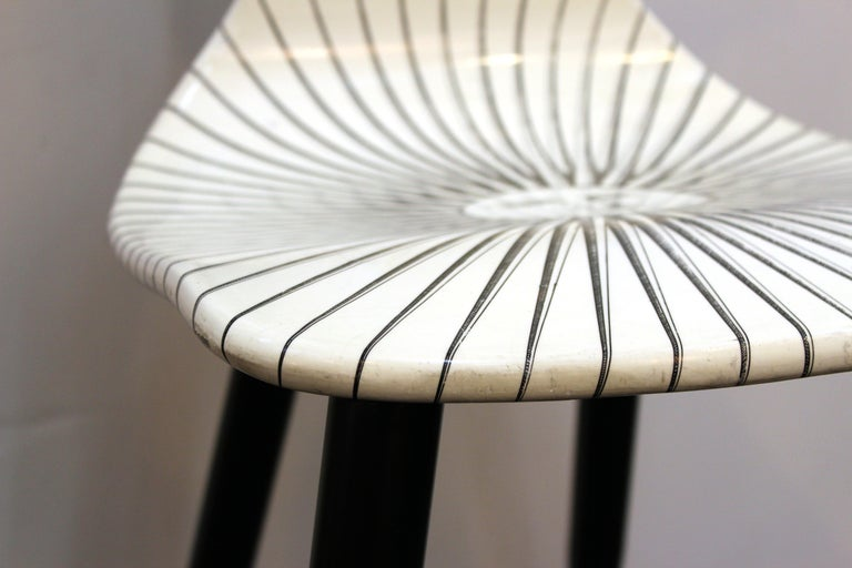 Piero Fornasetti White 'Sole' Bar Chairs For Sale 3