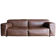 "Piero Lissoni Leather ""Softwall"" Sofa for Living Divani, circa 2006"