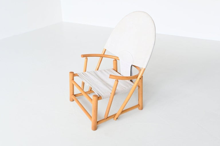 Canvas Piero Palange and Werther Toffoloni G23 Hoop Chair Germa, Italy, 1972