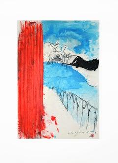 Bonjour Matisse - Original 5 Lithographs Portfolio by Piero Pizzi Cannella-2007