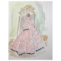 Pierpaolo Piccionli for Moncler, Ink and Acrylic on Paper