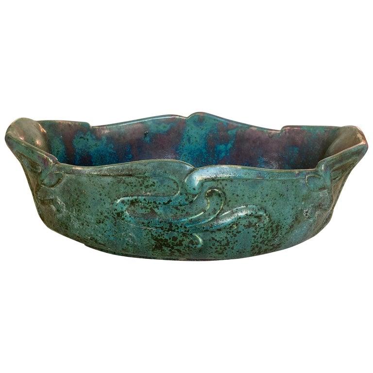 Pierre-Adrien Dalpayrat, Large Art Nouveau Centerpiece Bowl For Sale