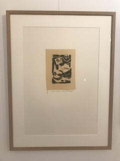 Haut Parleur - Litho - Pierre Alechinksy - 1950 - numbered - edition 89/99
