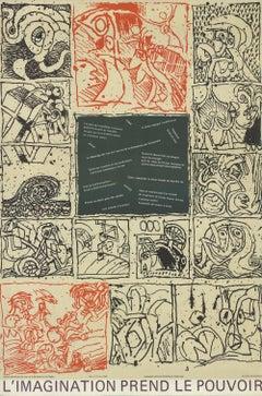 1968 Pierre Alechinsky 'L'imagination Prend Le Pouvoir' Modernism Offset Lithogr