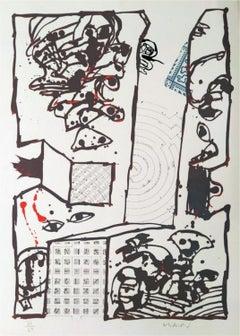 Chutes et panaches, avec extraits de partitions labyrinthiques de Jean-Yves Boss