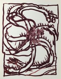 Pierre Alechinsky lithograph (Derriere Le Miroir)