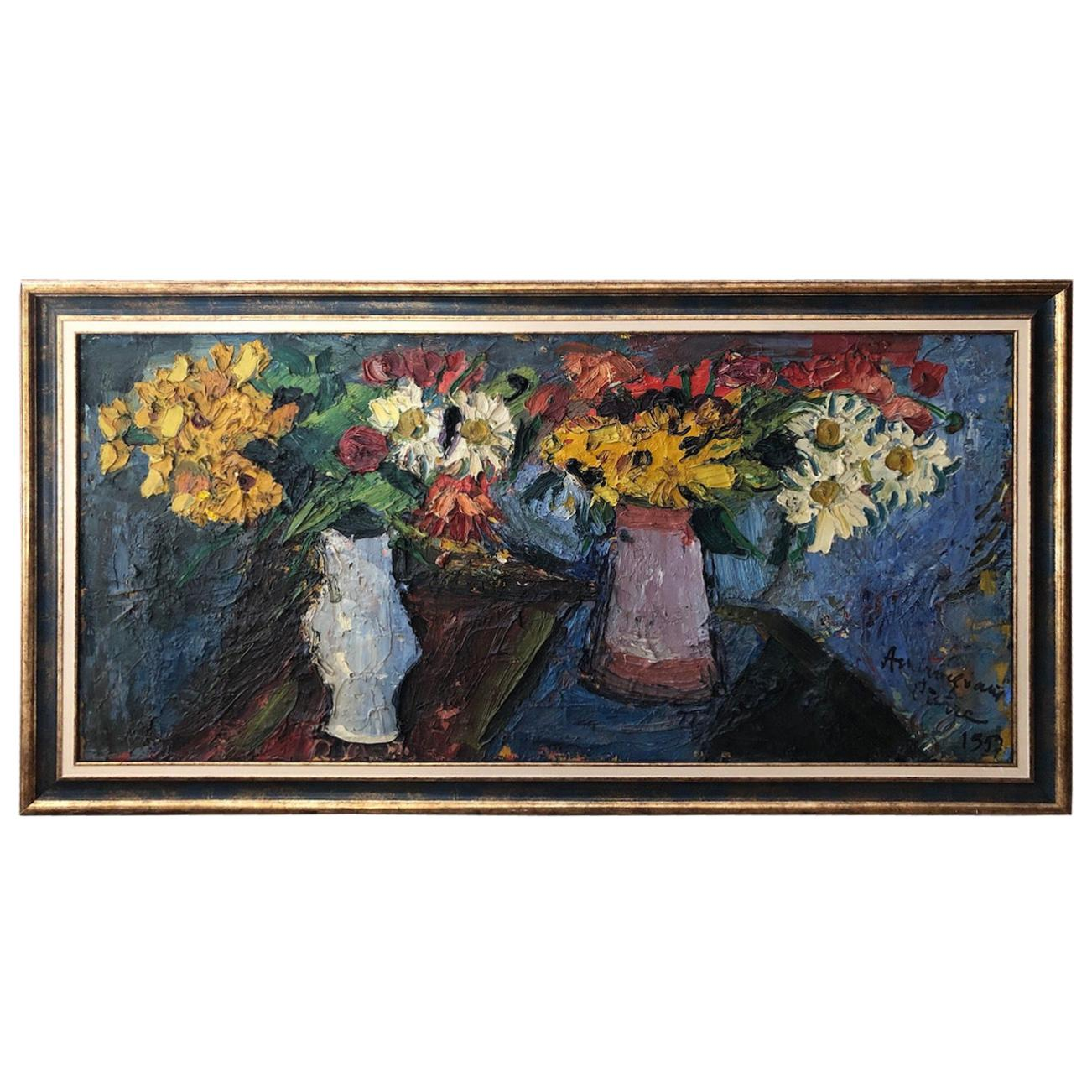 "Pierre Ambrogiani '1907-1985' ""Bouquets of Flowers"", 1957"