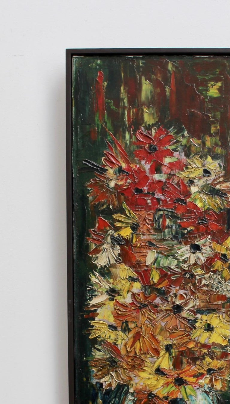 Still Life with Flowers of the Field - Beige Still-Life Painting by Pierre Ambrogiani