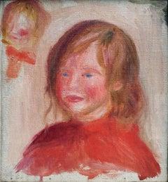 Pierre Auguste Renoir Boy Bust in Red – fragment, Oil on Canvas, Wildenstein