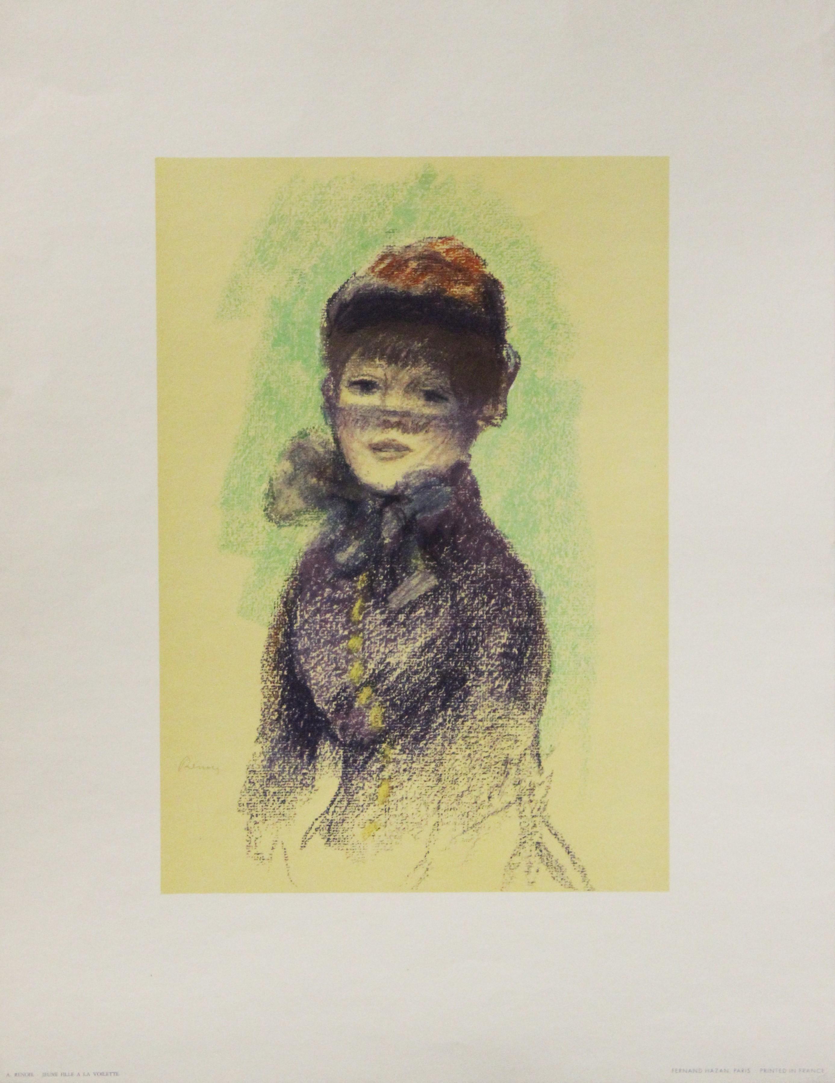 Jeune Fille A La Voilette-Poster. Printed in France.