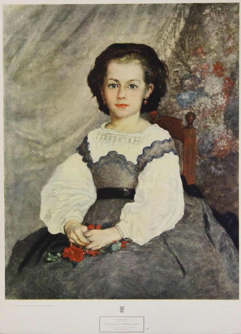Pierre Auguste Renoir Portrait Print - Mademoiselle Romaine Lacaux-Poster. New York Graphic Society.